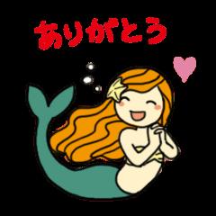 可愛い人魚スタンプ