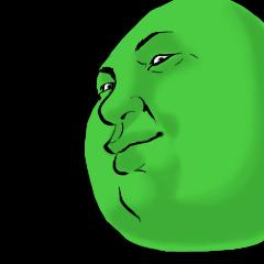 人面豆スタンプ