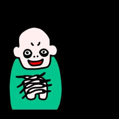 [LINEスタンプ] 悲しきモンスター2 (1)