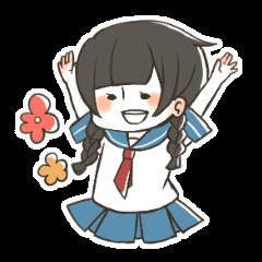 [LINEスタンプ] ゆるいぜ女子高生スタンプ (1)