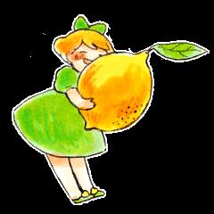恋するレモンちゃんスタンプ