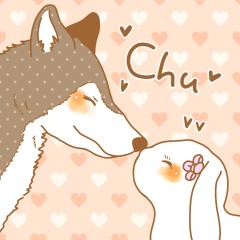 オオカミさんとウサギさん。