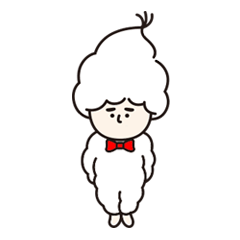 白いモフモフさん