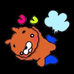 空跳ぶ ウサギ犬(´-ω-`)