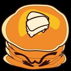 しかめ面なパンケーキ