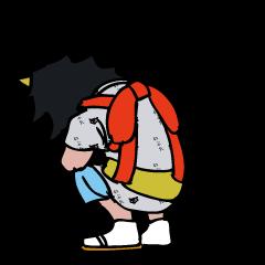 ねぶた祭りボーイ津軽弁を喋る