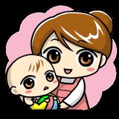 ママと赤ちゃんの育児スタンプ vol.2