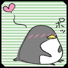 灰色ペンギン
