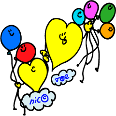 Colorful Heart Friends