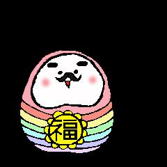 幸せダルマの福ちゃん
