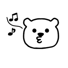 まっ白なクマさん達のスタンプ
