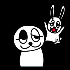 白うさぎと白黒ぱんだ2