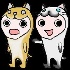 柴犬とシャム猫と忍者