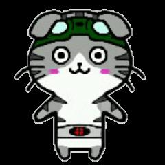 ヒロ猫(グリーン)