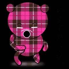 チェックのクマさん
