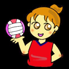 バレーボール部女子