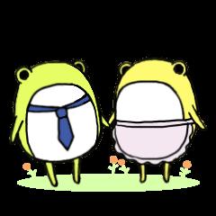 かえる夫婦