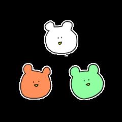 [LINEスタンプ] 3色のくまさん