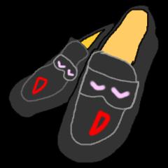 右の靴と左の靴は、とても仲良しです。
