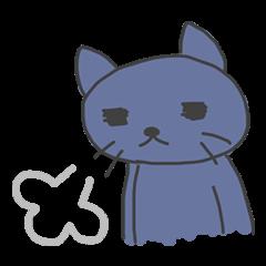テンション低い猫