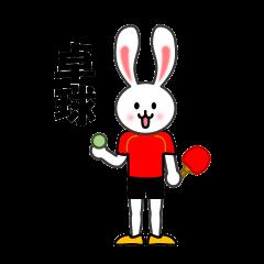 卓球ウサギ