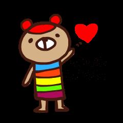 虹色クマの日常会話☆