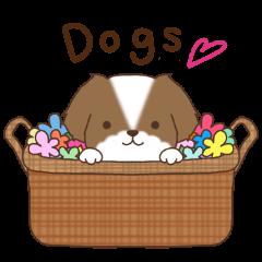 かわいい犬達のスタンプ