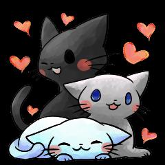 黒猫とか白猫とかペルシャ猫とか色々