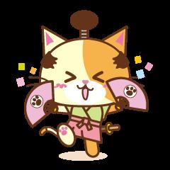 [LINEスタンプ] 猫のニャンコ侍でござる (1)