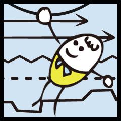 [LINEスタンプ] 境界線をひこう!