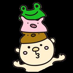 帽子赤ちゃんとウサギママ