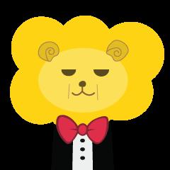 """"""" Leo De Beau """" - Lion with a Ribbon"""