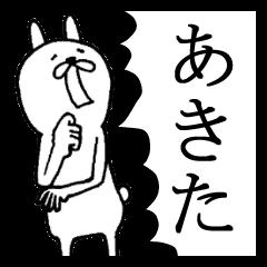 秋田弁めんけ~うさぎ