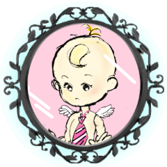 天使の赤ちゃんと魔法の鏡