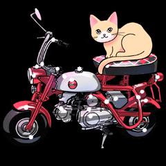 かわいいネコと原付スクーター