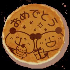 パンダケーキ メッセージ♪