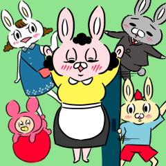 ウサ木さん家の家族スタンプ
