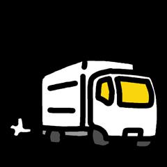 トラック運転手スタンプ(車だけバージョン)