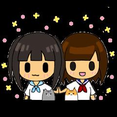 能登弁!女子高生+ネコ