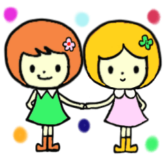 ふたりはミコ☆カコ双子ちゃん。