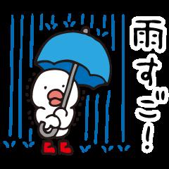 雨の日,晴れの日,くもりの日(天気スタンプ)