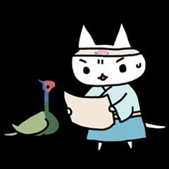 [LINEスタンプ] ねこ日本昔話 (1)