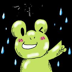 雨とカエルのやさしい敬語
