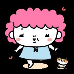 ピンキーおばちゃんwithかわいいねこ太郎。