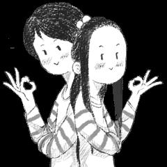 水彩画カップル〜♡