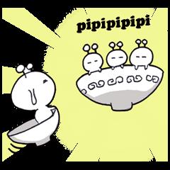 [LINEスタンプ] お椀のピピ(ピピ語対応) (1)
