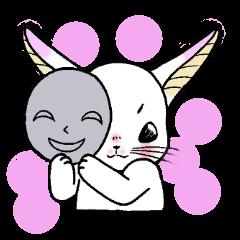 女子トーク。~ウサギとネコ~