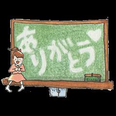 Naryと水彩手描き文房具