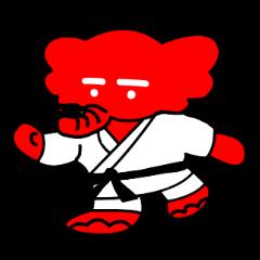 日本大学柔道部のマスコット「赤象」