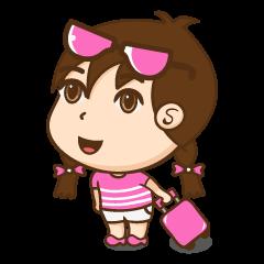 Chibi girl Summer Holidays